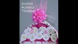Tutorial: Diaper Stork Bundle Easy Baby Shower Gift