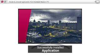 [LG WebOS TV] - How to Use the LG Content Store on LG Smart TVs