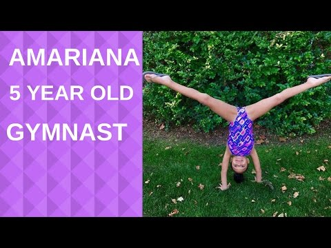Amariana a cute 5 year old gymnast