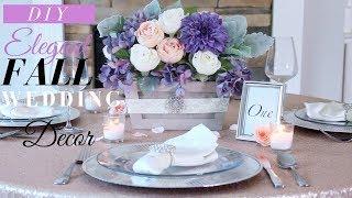 Rustic Wedding Centerpieces DIY | DIY Fall Wedding Decor