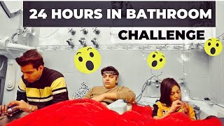 LIVING IN BATHROOM FOR 24 HOURS | Rimorav Vlogs