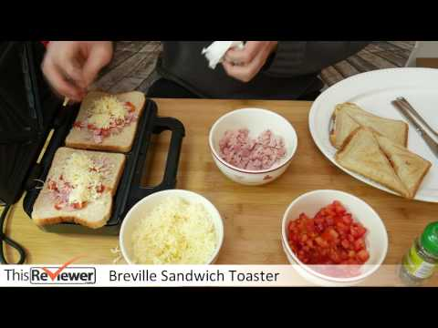 Trying out the Sandwich Toaster - deep fill and filled yummy sandwiches