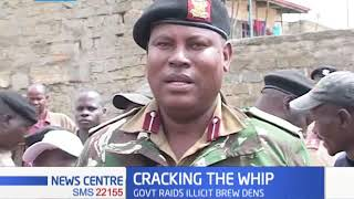 Cracking The Whip: Government raid illicit brew dens, hundreds of litres destroyed
