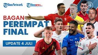 Euro 2020: Hasil Akhir Bagan 8 Besar, Inggris, Denmark, Italia, dan Spanyol Lolos ke Babak Semifinal