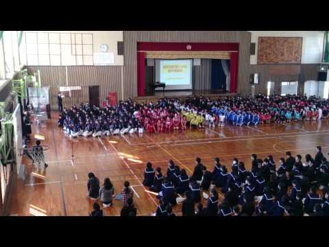 豊見城中学校 2014年1月新人大会激励会