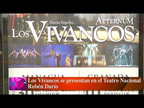 Los Vivancos se presentan en el Teatro Nacional Rubén Darío