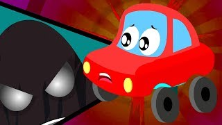 In Halloween Everything Is Scary | Nursery Rhymes |  Little Red Car