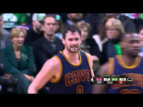 NBA, Playoff 2015, Cavaliers Vs. Celtics, Round 1, Game 3, Move 12, Kevin Love, 2 Pointer