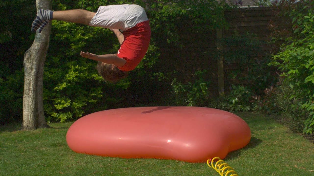 The Jiggly Beauty Of A 1.8m Water Balloon In Slow Motion