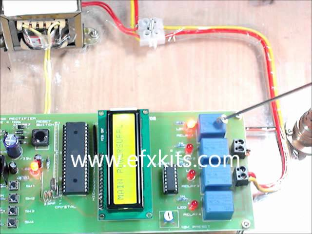 Automatic Star Delta Starter using Relays for Induction Motor Project