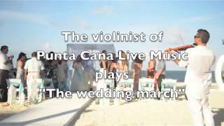 The violinist and sax player of Punta Cana performing at  Huracan cafe wedding venue