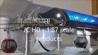 スキーリフト(索道・ロープウェイ・ゴンドラ)の模型を買ってみた H0 - 1:87 scale CableCar