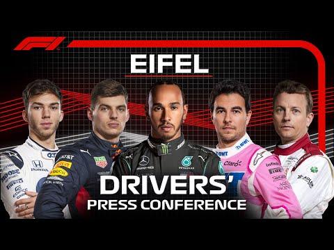 F1 ドイツGPレース直前のプレスカンファレンスのライブ配信動画