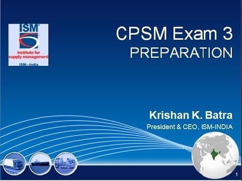ISM CPSM Exam-3 Webinar - YouTube