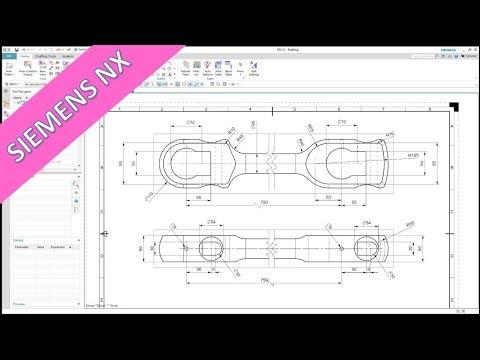Connecting Rod - Siemens NX 12 Training - Drafting - YouTube