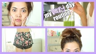 My Lazy Day Routine ♡ breakfast, skincare, makeup, hair + outfit!