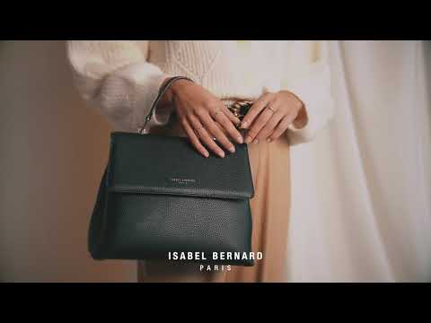 Isabel Bernard Femme Forte Heline black calfskin leather handbag