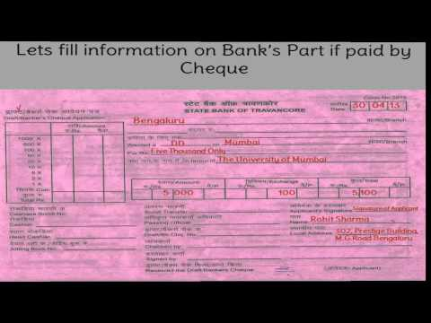 how to fill demand draft form of indian overseas bank
