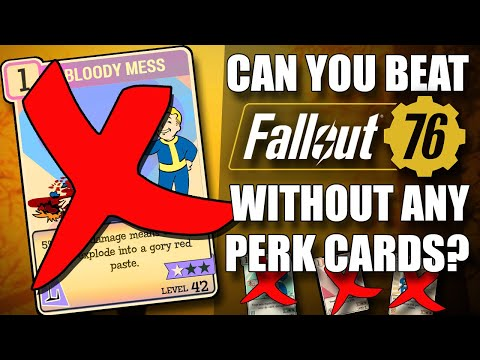 Can you beat Fallout 76 without ANY Perks?