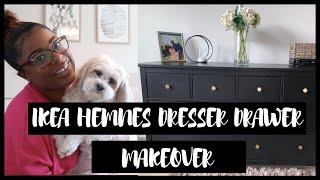 HEMNES DRESSER DRAWER MAKEOVER (IKEA) PART 2  | Dresser Drawer Decor| Quarantine Home Project Series