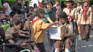 Anak-anak Penyandang Disabilitas di YPAC Surakarta Galang Dana untuk Bantu Korban Gempa Lombok