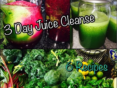 Video 3 Day Juice Cleanse!! | 6 Juice Recipes!!
