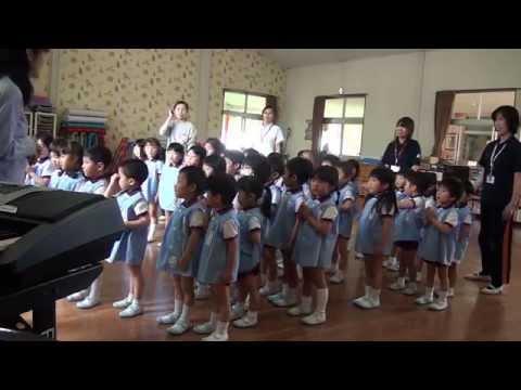 芽生え幼稚園 リトミック教室 すみれ組 「雨の日」の取り組み