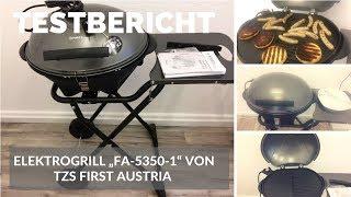 """► Test-Video des elektrischen Standgrills """"FA-5350-1"""" von TZS First Austria auf Deutsch ☑"""