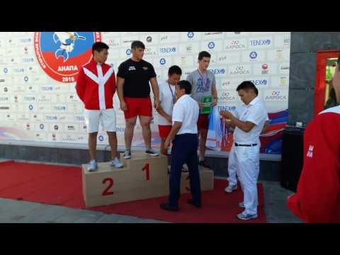 Награждение на Первенстве России среди юношей по мас-рестлингу 2016г, вес.кат. до 80 кг и 80 + кг
