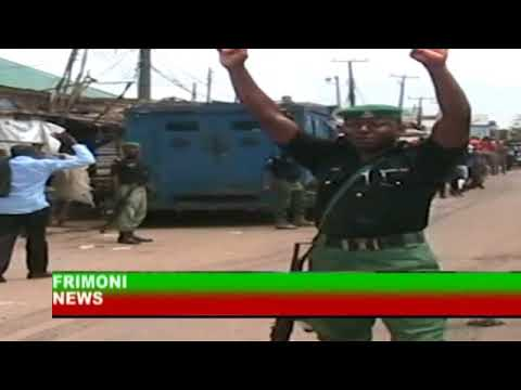 BREAKING NEWS;POLICE AND BUCTHCER CLASH IN IBADAN