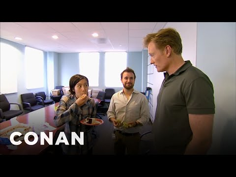Conan Busts His Employees Eating Cake  - CONAN on TBS (видео)