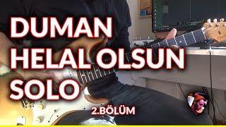 Duman - Helal Olsun Solo (Birebir Detaylı Gitar Dersi) #duman #helalolsun #gelinöğretiyorum