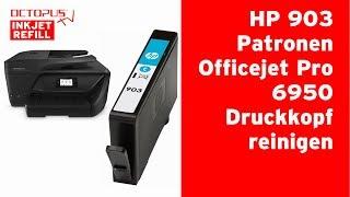 HP 903 Tintenpatronen -  Druckkopf reinigen OfficeJet 6950