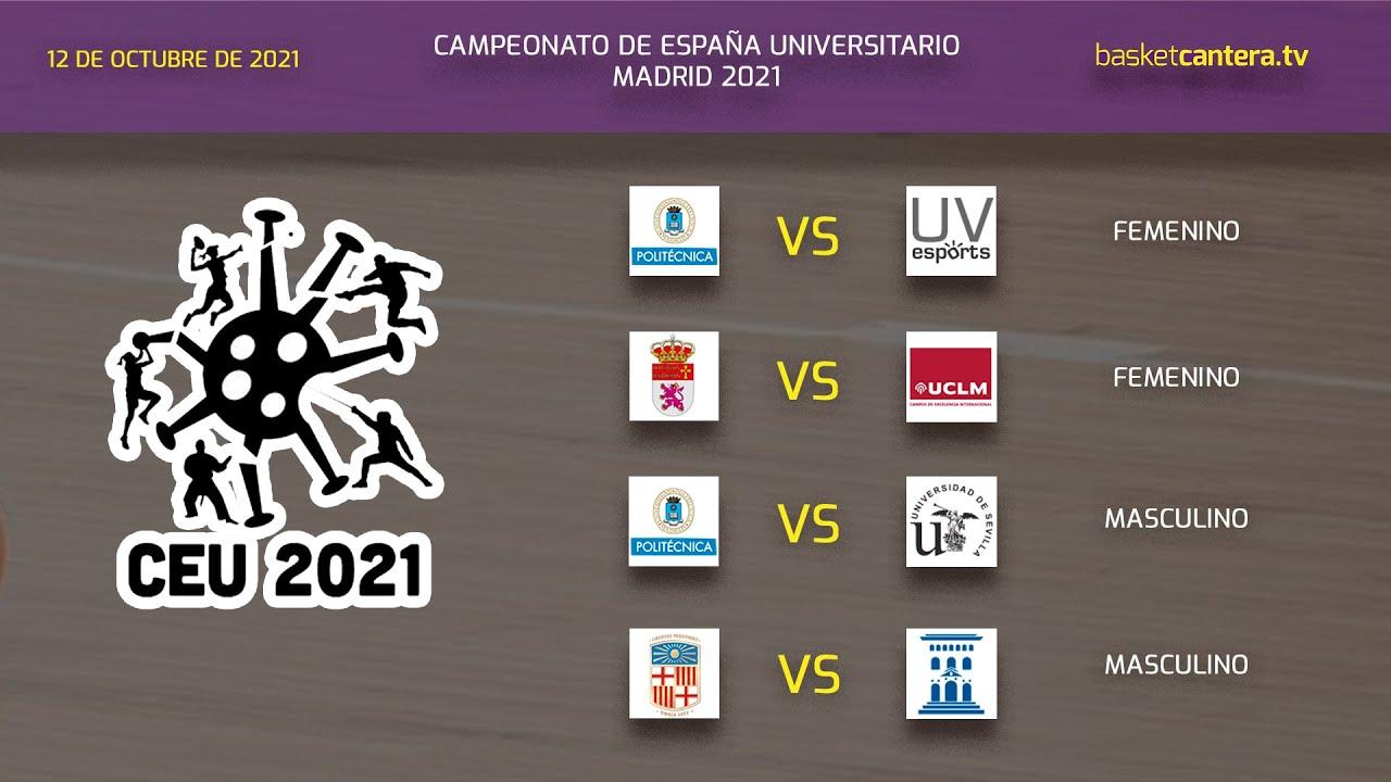 Cpto. España Baloncesto Universitario - VÍDEO 2.- Partidos Sede  UPM. Día 1 (mañana)