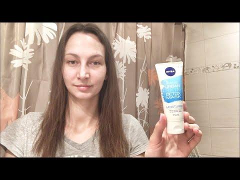 Тестирую маску NIVEA 1 minute urban skin detox mask moisturise. Уход за кожей лица