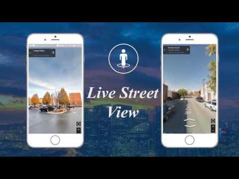 Vídeo do GPS satélite mapas direção E navegação