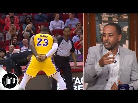 LeBron James' no-hands defense is 'showing up the refs' - Amin Elhassan | The Jump