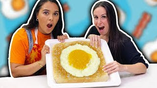 MASSIVE EGG!!!  🍳➡️🍞 GIANT Egg-in-a-hole RECIPE