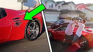 I CRASHED MY FRIEND'S NEW FERRARI! *HE FREAKED OUT*