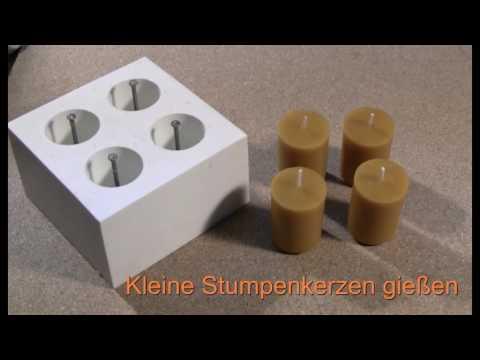 kerzengiessen von kleinen Stumpenkerzen.mp4