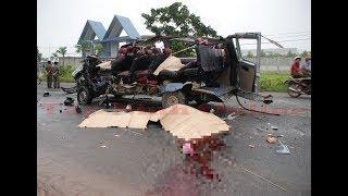 Tai nạn giao thông thảm khốc ở huyện Dương Minh Châu: Xe khách đối đầu, 6 người chết