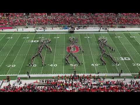 The Ohio State marching band did the backpack kid 'flossin' dance