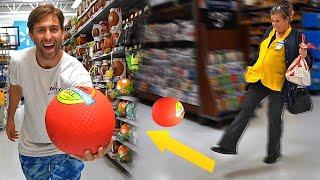 Kickball with WALMART EMPLOYEES! *Broke the ROOF*