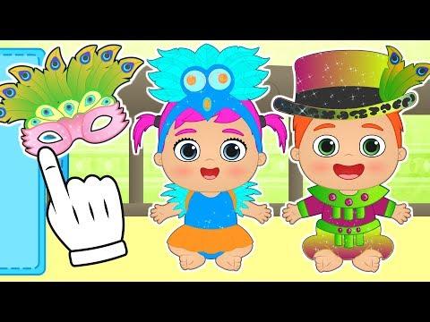👶 BEBE ALEX Y LILY 👶 Se visten para CARNAVAL de Brasil | Especial disfraces de carnaval