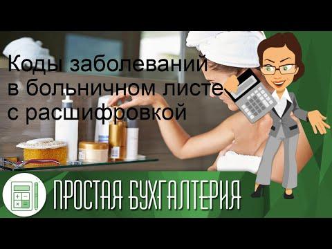 Коды заболеваний вбольничном листе срасшифровкой