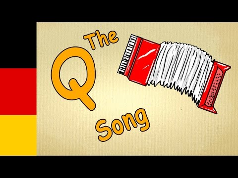 The german alphabet - learn letter A song - How to pronounce each