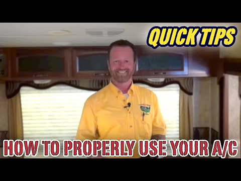 How to Properly Use The Air Conditioner (AC) in Your Camper   Pete's RV Quick Tips (CC)
