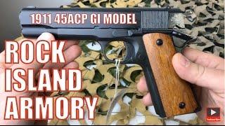 Rock Island Armory RIA 1911 .45ACP GI Standard Steel Pistol