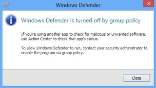 CAN'T TURN ON WINDOWS DEFENDER FIX!!!!!!!!