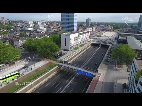 Copterflug: Der Portsmouthplatz im Juli 2017.